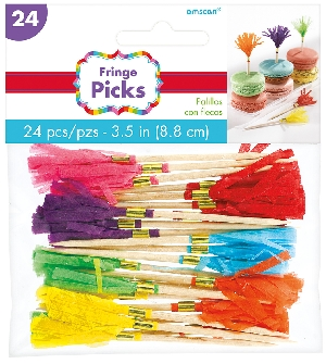 Pinchos Rainbow Buffet Paper Fan Picks