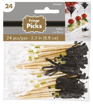 Pinchos Black Buffet Paper Fan Picks