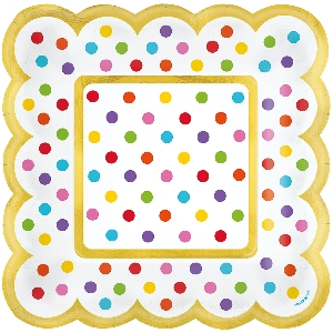 Candy Bar Rainbow Buffet Scalloped Plates 14cm