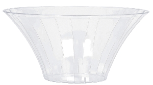 Bowl Clear Medium Plastic Flared Bowl 18cm dia