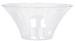 Bowl Clear Large Plastic Flared Bowl 23.3cm dia