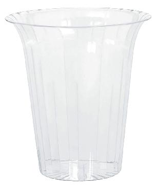 Bowl Plastic Medium Flared Cylinders 14.9cm