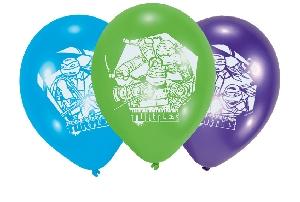 6 globos latex Teenage Mutant Ninja Turtles 22.8 cm/9''  **Stock Oferta