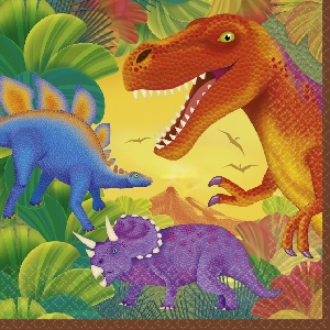 Servilletas Prehistoric Party Luncheon Napkins