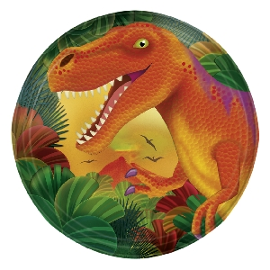 Platos Prehistoric Party Metallic Plates 17.7cm