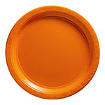 Platos anaranjados - Platos de cartón para fiesta de 23cm