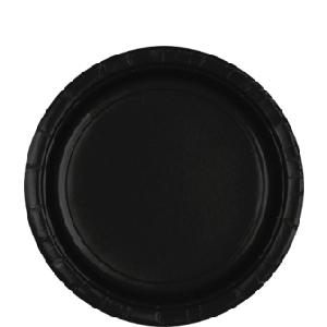 Platos negros-Platos de papel 23cm