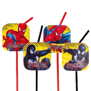 (OFERTA) PAJITAS DECORADAS: SPIDERMAN