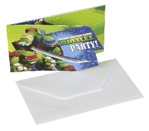 TMNT 6 Card Invitación  **Stock Oferta