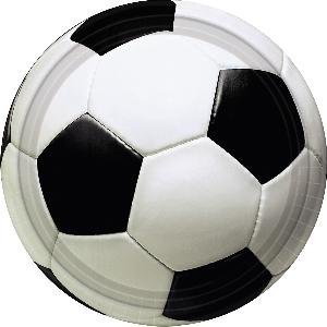 Platos Championship Soccer Plates 22.8cm