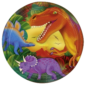Platos Prehistoric Party Metallic Plates 22.8cm