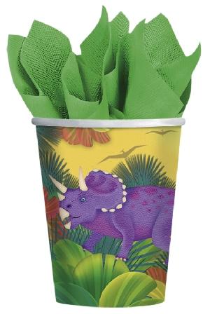 Vasos de cartón Fiesta Prehistórica - 266ml