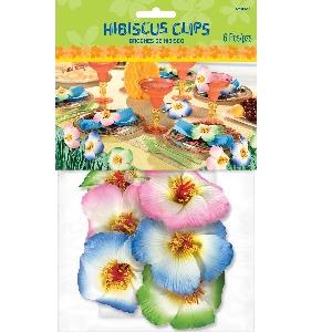 HIBISCUS CLIP DECORATIONS