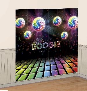 Fiebre Disco Años 70 Kit Decoración para Salón Pared - 1,7m