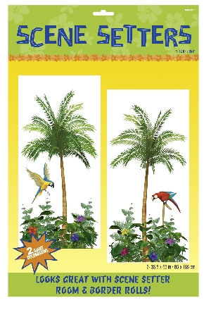 DECOR. PARED PALMERAS TROPICAL.