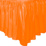 Falda de mesa de plástico naranja- 73cm x 4,2m