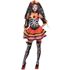 Señorita Día de los Muertos - Traje de Halloween para Adultos 38-40