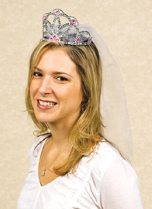 Tiara Hen Party Tiara with Veil