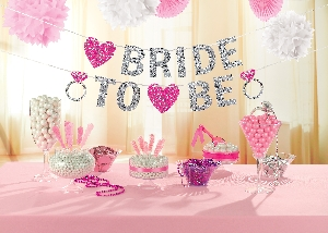 Banderin Hen Party Bride to Be Glitter 3.65m