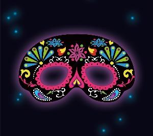 Juguetes Fancy Glow Black Ornemental Mask