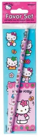 Pack pegatina+lapiz+libreta Hello Kitty( OFERTA)