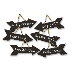 6 Direction Pancartas - Halloween
