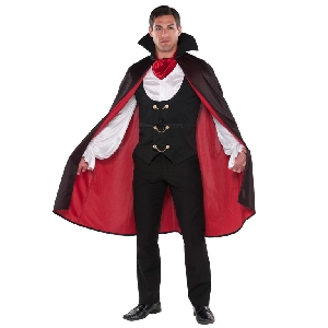 Vampiro Verdadero - Disfraz de Halloween - Talla L Pecho 106-111