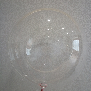 5 GLOBOS BUBBLE - BURBUJA CRISTAL 36'- 90cm (SIN PALO, SIN COPA)