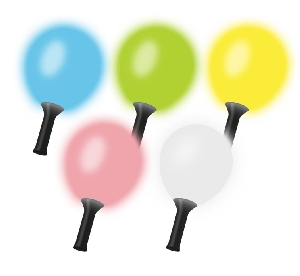 GLOBO MARACA BLANCO CON LED MULTICOLOR
