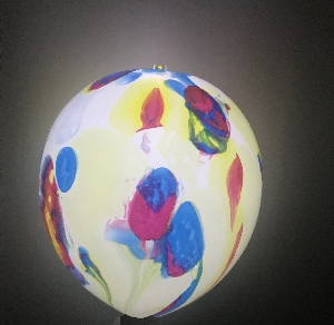 GLOBO LATEX CON LED MARBLE