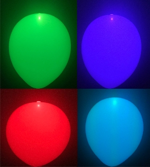 GLOBO LATEX CON LED MULTICOLOR (CAMBIA DE COLOR)