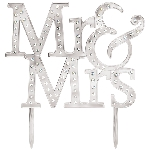 Decoracion Mr & Mrs Cake Topper