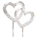 CAKE TOPPER ELECT DOUBLE HEART