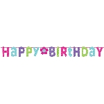 Banderin Pink & Teal Happy Birthday Giant Letter 3.3m x 31cm