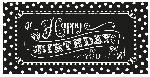 Banderin Black & White Happy Birthday Giant Party1.65m x 85cm