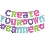 Banderin Pink & Teal Customisable Letter