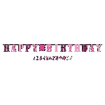 Banderin Fabulous Birthday Add an Edad Letter3.2m x 25cm