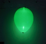 GLOBO LATEX CON LED VERDE