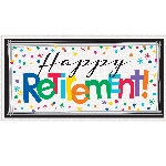 Banderin Happy Retirement Giant1.65m x 50cm
