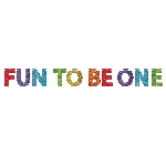 Banderin Rainbow 1st Birthday Fun To Be One Glitter 3.65 x 15cm