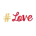 BANDERIN LETRAS FL #LOVE
