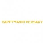 Banderin Happy Anniversary Gold Foil Letter2m x 15.8cm