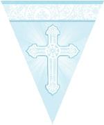 Banderin Radiant Cross Blue