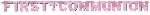 Banderin letras First Communion Pink Foil - 2.6m x 30.4cm