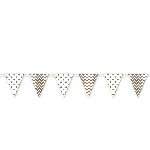 Banderin Mixed Metals Dots & Chevron Large Pennant Banner 4m