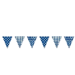 Banderin Bright Royal Blue Dots & Chevron Large Pennant Banner 4m