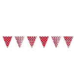 Banderin Apple Red Dots & Chevron Large Pennant Banner 4m