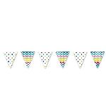 Banderin Rainbow Dots & Chevron Large Pennant Banner 4m