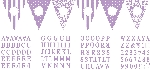 Banderin Paper Personalised Pennant Banner - Damask, Dots & Stripes Lilac