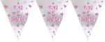 Banderin First Birthday Girl Foil - 3.65m x 25.4cm